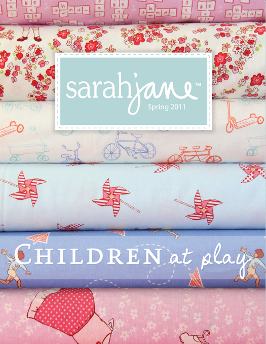 sarah jane studios fabric Children at Play