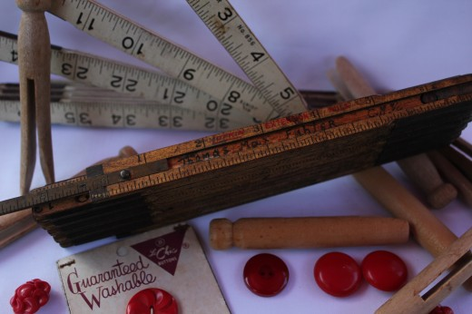 Vintage Measuring Stick with Name