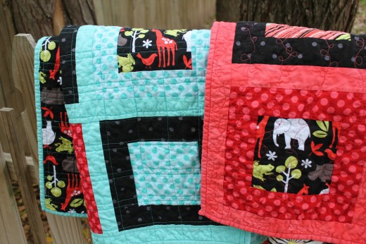 Twin Squares Baby Quilts by Honeyhill Designs